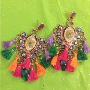 ✅ Large bohemain big brother's tassel earrings